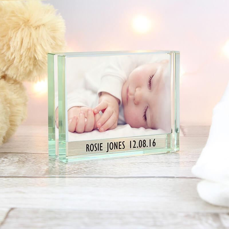 Personalised Crystal Block Photo Frame