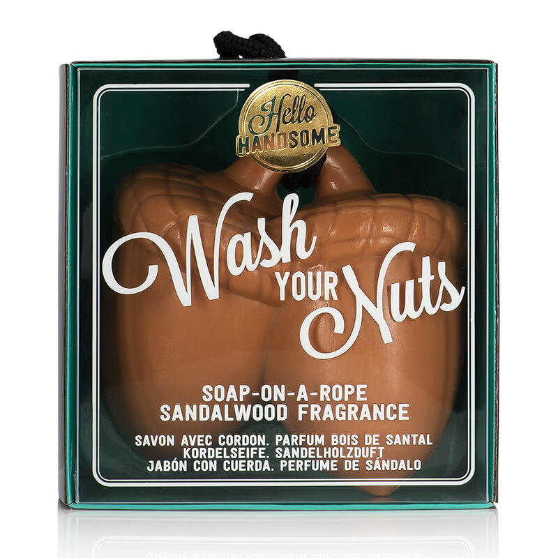 Hello Handsome Wash Your Nuts Soap On A Rope