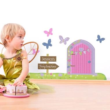 Personalised Magical Fairy Door Wall Art