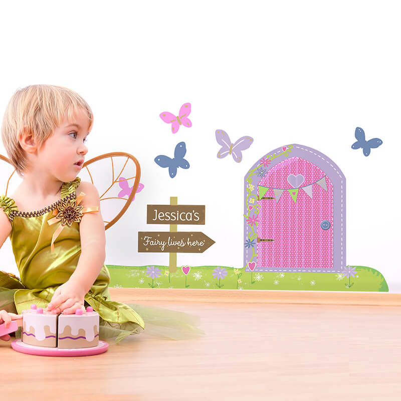 Personalised Magical Fairy Door Wall Art