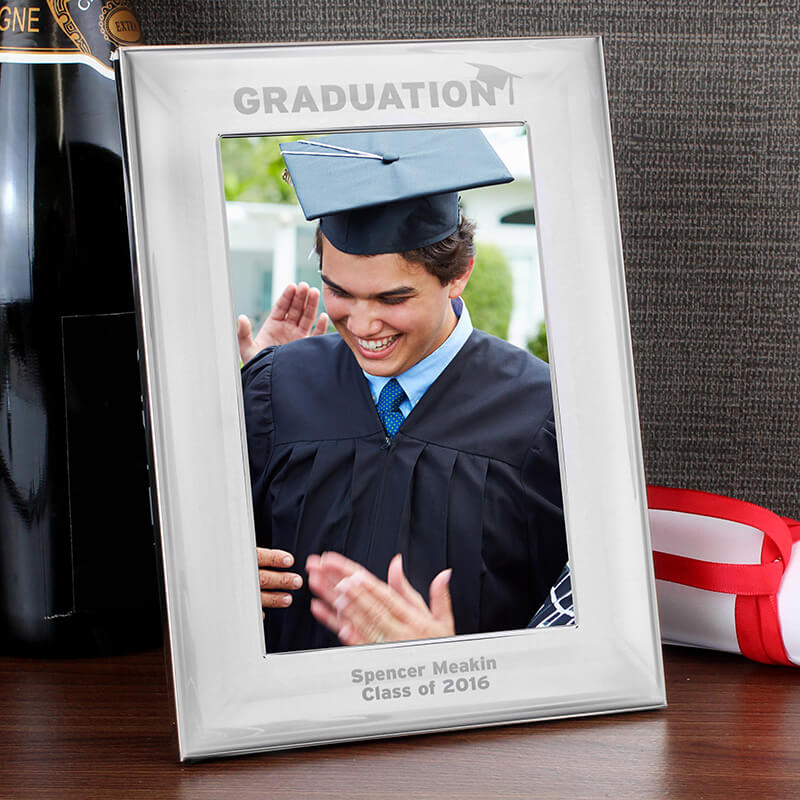 Personalised Silver Graduation Photo Frame - Buy from Prezzybox.com