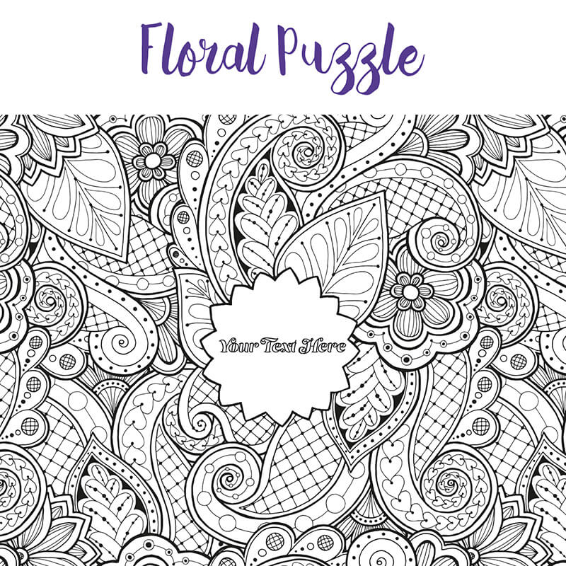 Personalised Colouring Jigsaw