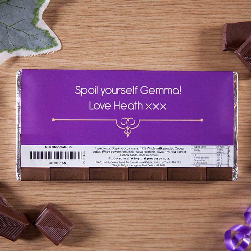 Personalised Birthday Milk Chocolate