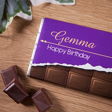 Personalised Birthday Milk Chocolate