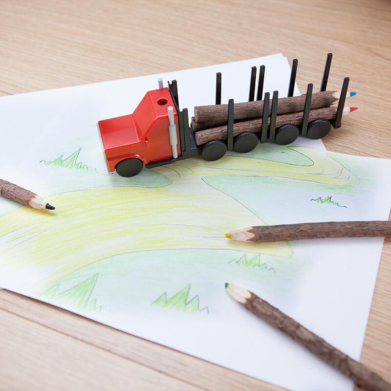 Log Pencil Truck