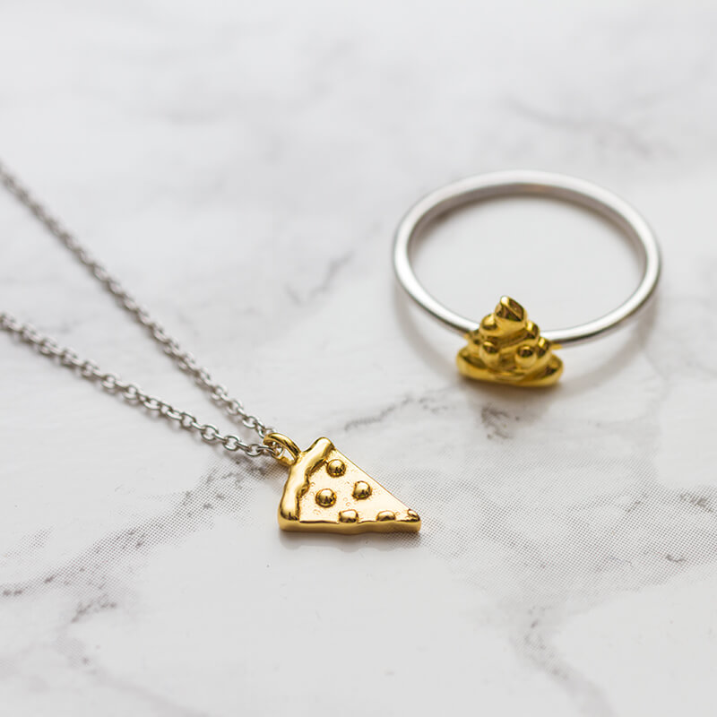 Emoji Pizza Necklace