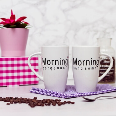 Morning Mugs - Set Of 2