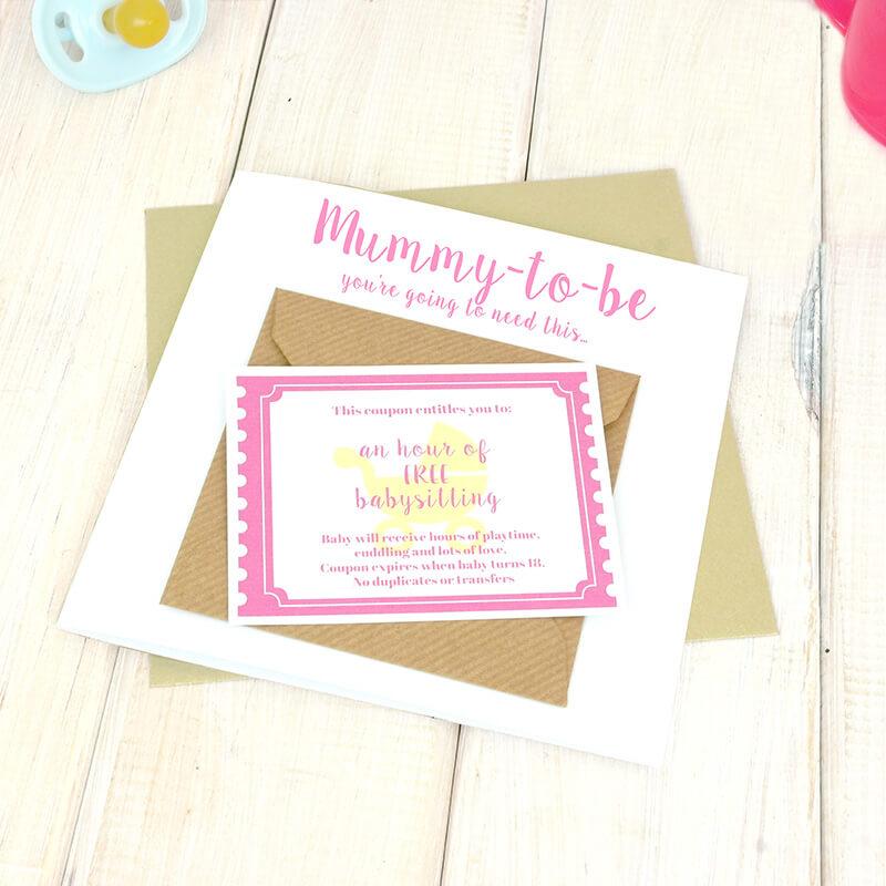 New Mummy Babysitting Coupon Card