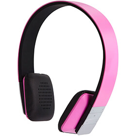 Groove Tempo Wireless Bluetooth Headphones With Mic  Pink
