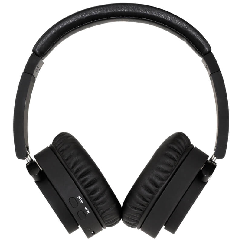fusion wireless bluetooth or wired stereo headphones black buy from. Black Bedroom Furniture Sets. Home Design Ideas
