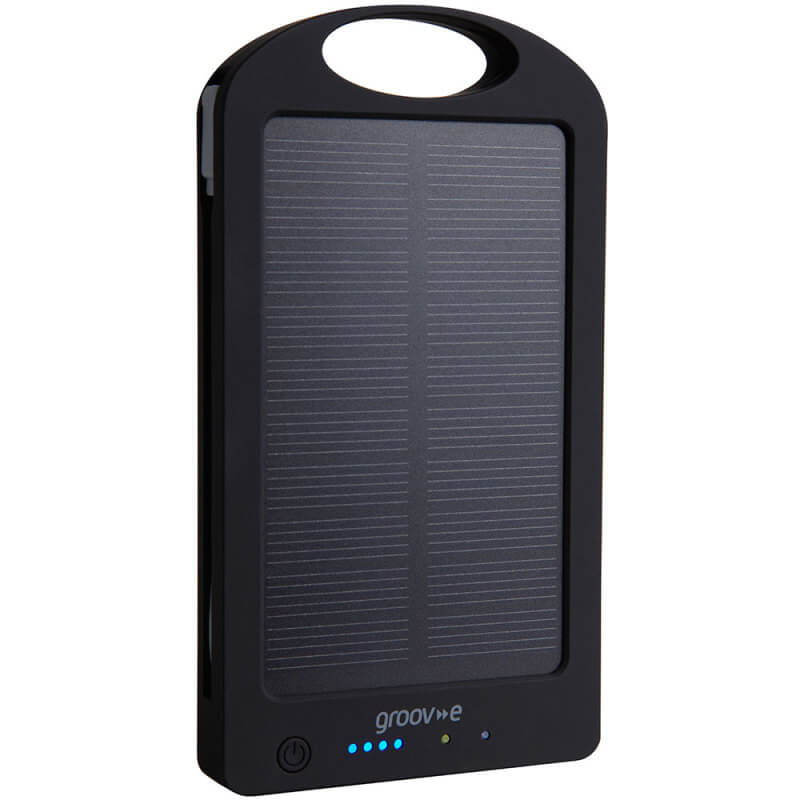 Groove Portable Solar Bank Charger 6000mAh