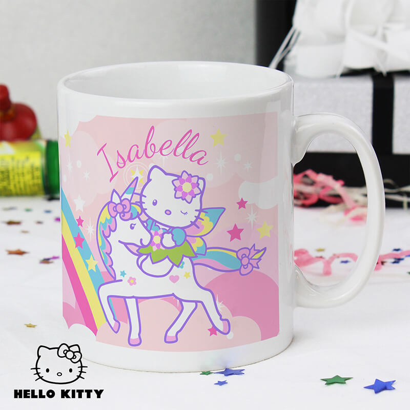 Personalised Hello Kitty Unicorn Mug