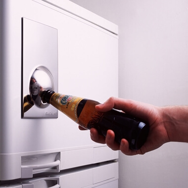 Bottle Opener Fridge Magnet - Chrome