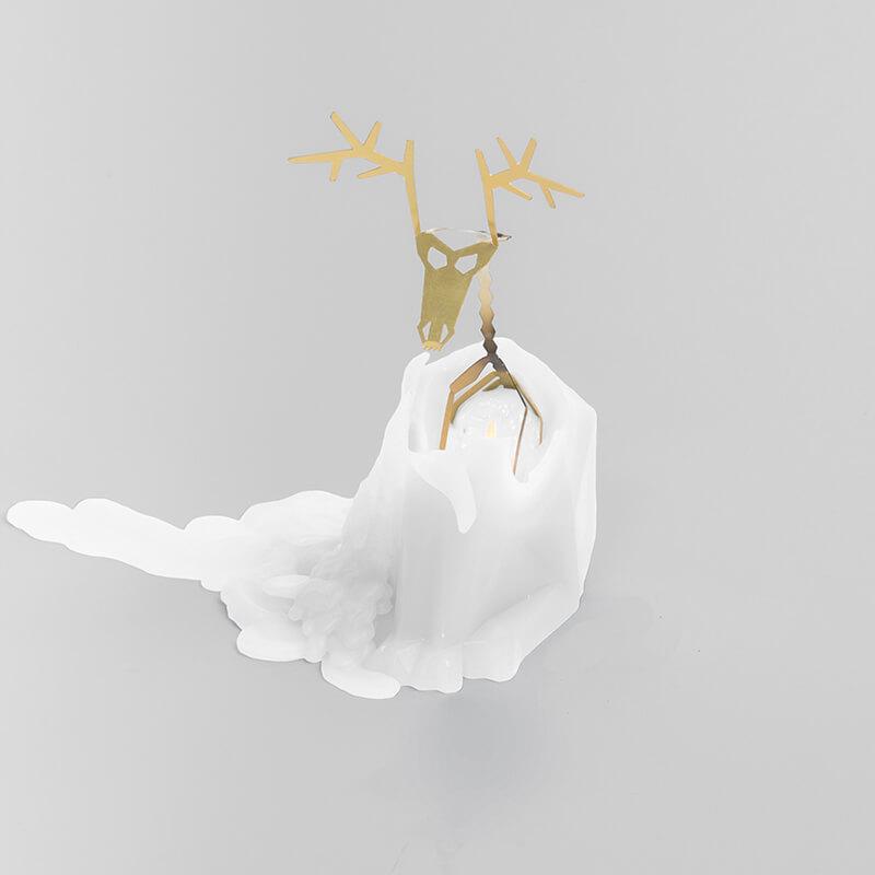 Pyro Pet Dyri Candle - White