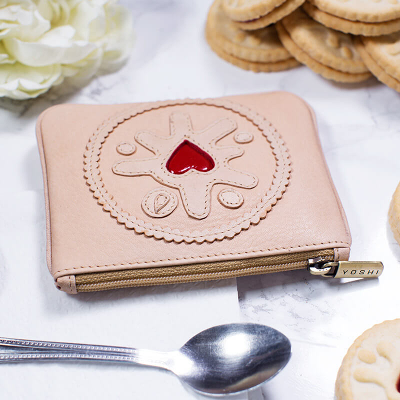 Jammy Biscuit Leather Coin Purse