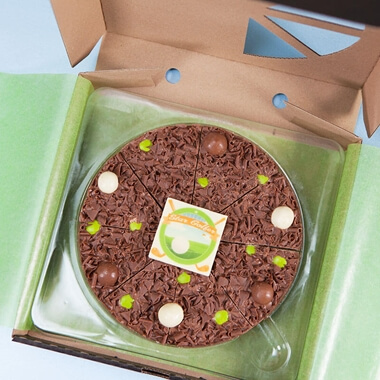 Personalised Golfer Chocolate Pizza 7""
