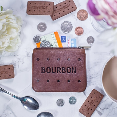 Bourbon Biscuit Leather Coin Purse