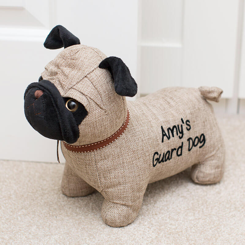 Personalised Pug Doorstop