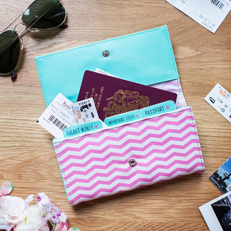 Beauty Junky Passport and Ticket Holder