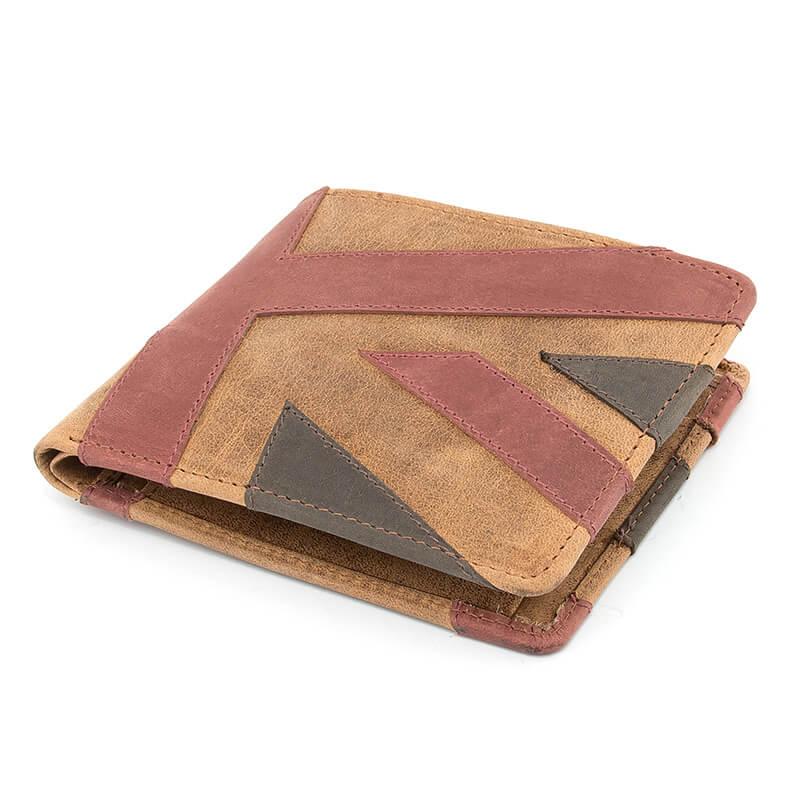 Mustard Union Jack Leather Wallet