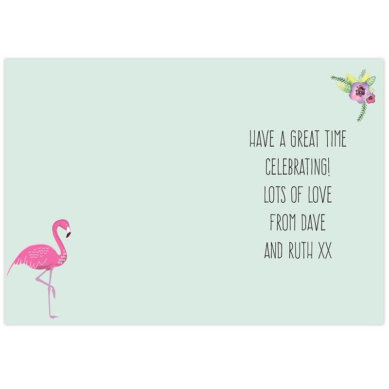 Personalised Flamingo Card
