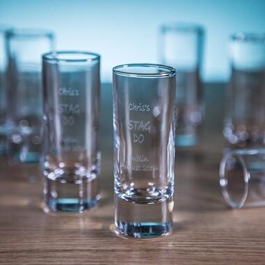 Personalised Shot Glasses - Pack of 10