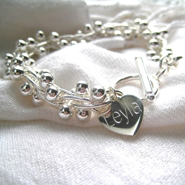 Personalised Chunky Ball Bracelet
