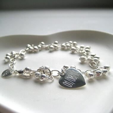 Personalised Shimmer Ball Bracelet