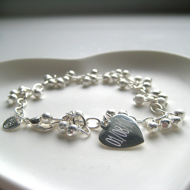 Personalised Shimmer Ball Bracelet