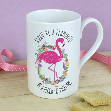 Personalised Flamingo Mug