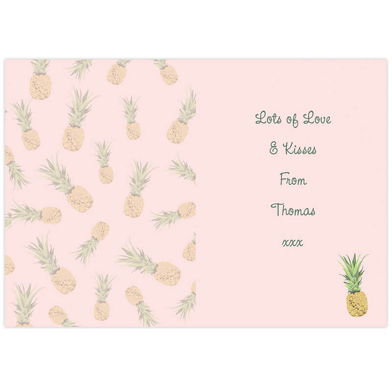 Personalised Pineapple Card