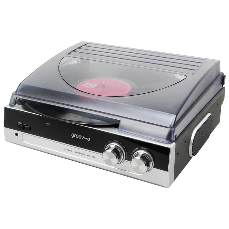 Groov-e Classic Vinyl Record Player With FM Radio And Built-in Speakers - Black