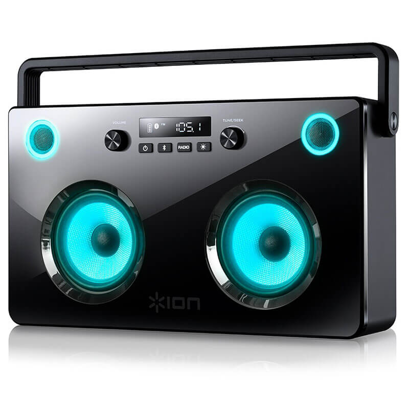 Ion Spectraboom - Bluetooth Portable Boombox Speakers And FM Radio