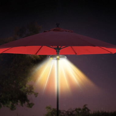 Ion Audio Patio Mate - Umbrella Light With Bluetooth Speakers