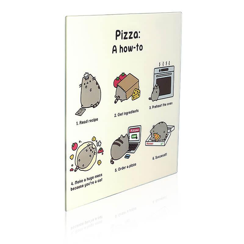 Pusheen Chopping Board - Pizza