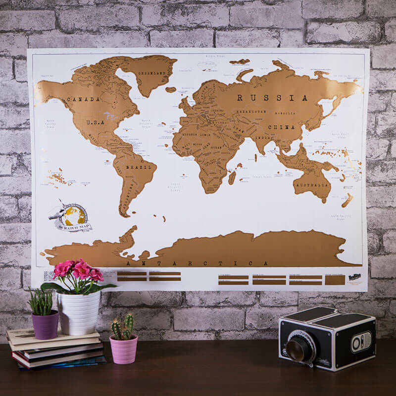 My Scratch Map Buy From Prezzyboxcom - Framed scratch world map