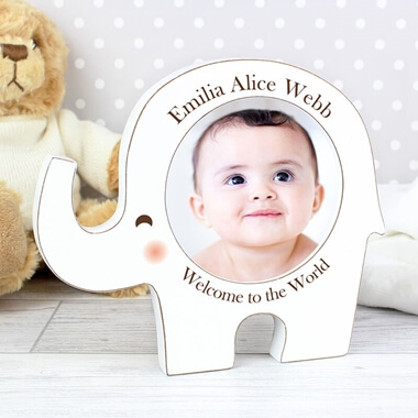 Personalised Elephant Photo Frame