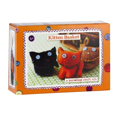 Kitten Basket Sewing Kit