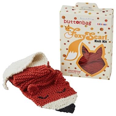 Foxy Scarf Knitting Kit