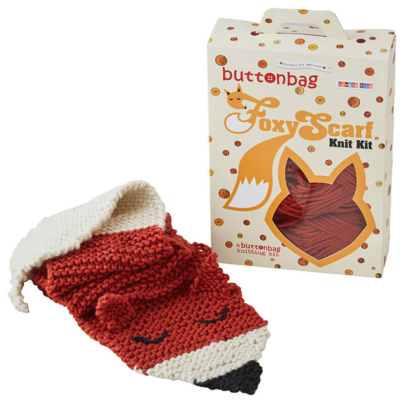 Foxy Scarf Knitting Kit