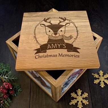 Personalised Reindeer Christmas Memory Box