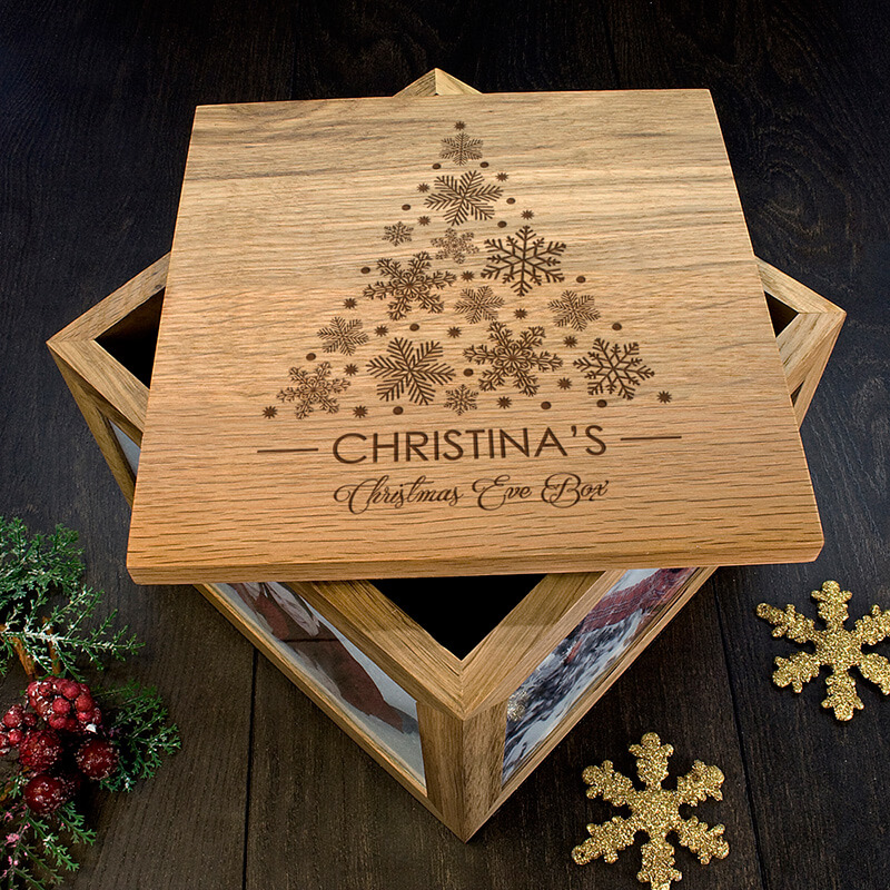 Personalised Christmas Tree Memory Box Buy From Prezzybox Stunning Decorative Keepsake Memory Boxes