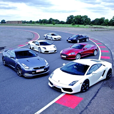 Five Supercar Thrill with High Speed Passenger Ride - Special Offer
