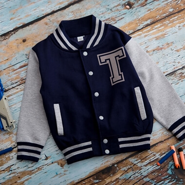 Personalised Kids Varsity Jacket