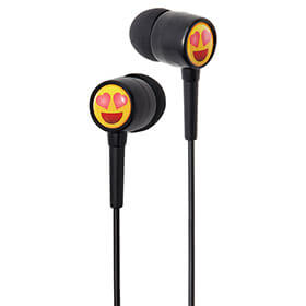 EarMoji's Earphones - Heart Eyes