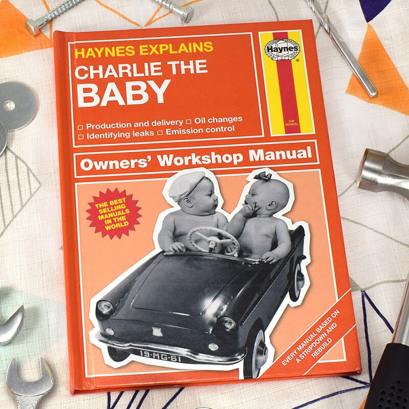 Personalised Haynes Explains The Baby Book