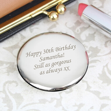 Personalised Round Compact Mirror