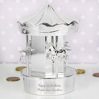 Personalised Carousel Money Box