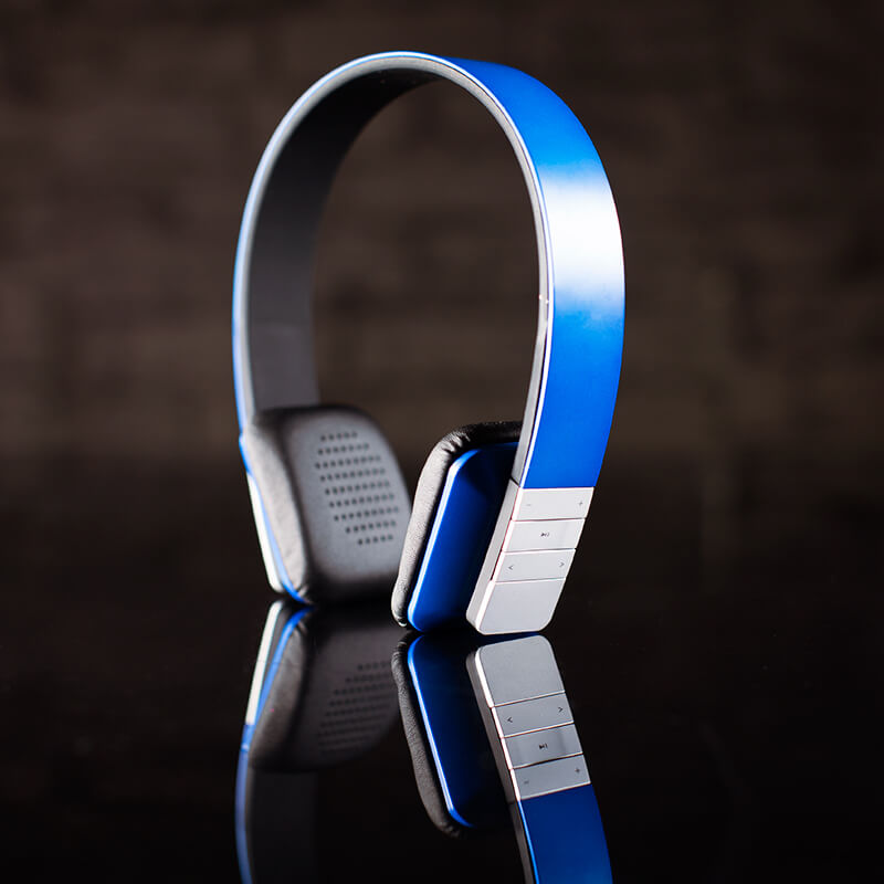 Groov-e Tempo Wireless Bluetooth Headphones With Mic - Blue