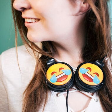 EarMoji's Headphones - Cry Laughing